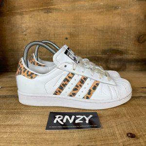 Adidas Originals Superstar White Leopard Sneakers